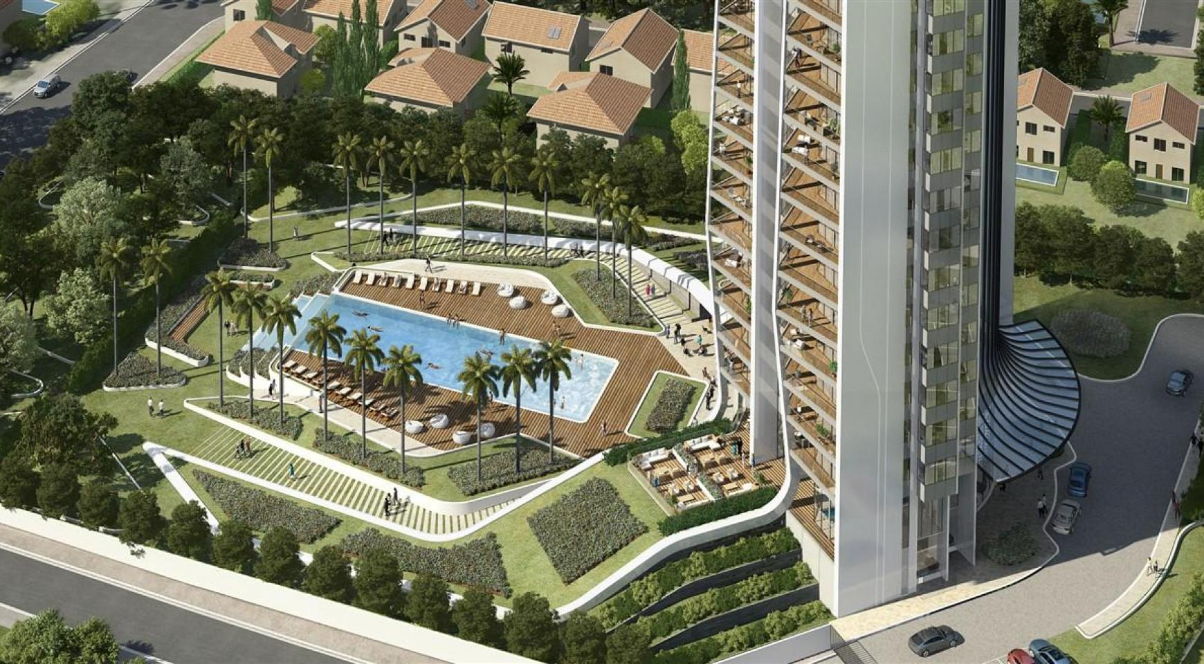 Sky Tower. Modern Spacious One Bedroom Apartment with Sea Views - 8
