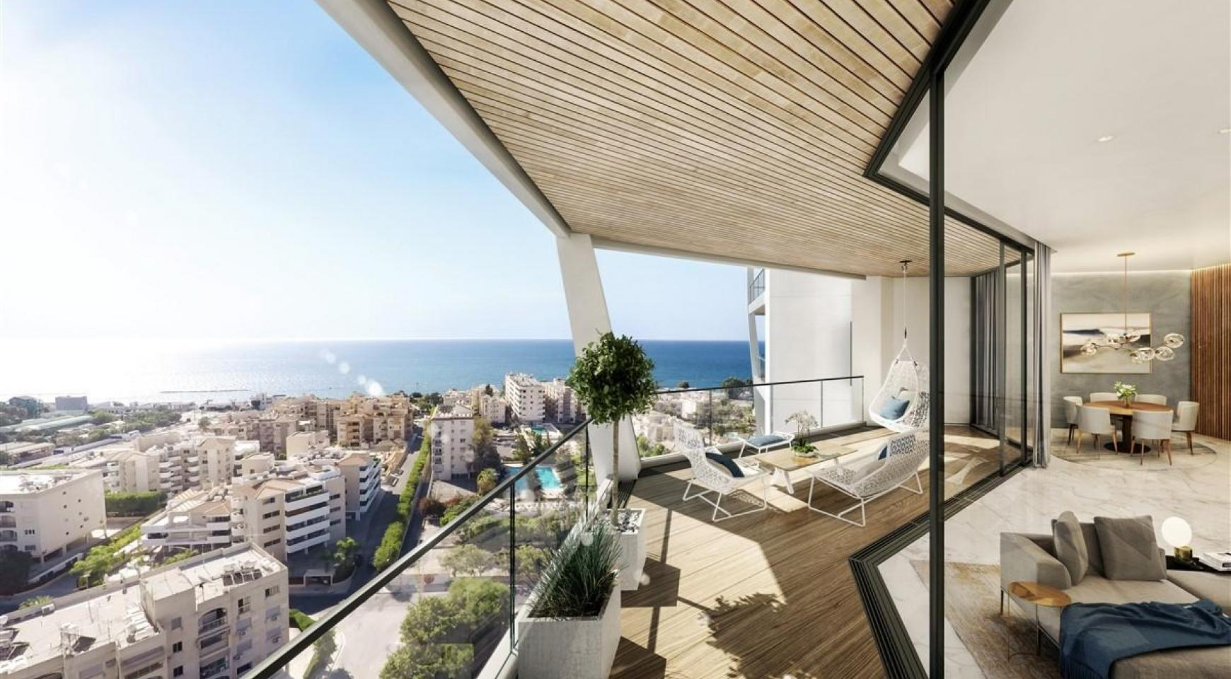 Sky Tower. Modern Spacious One Bedroom Apartment with Sea Views - 6