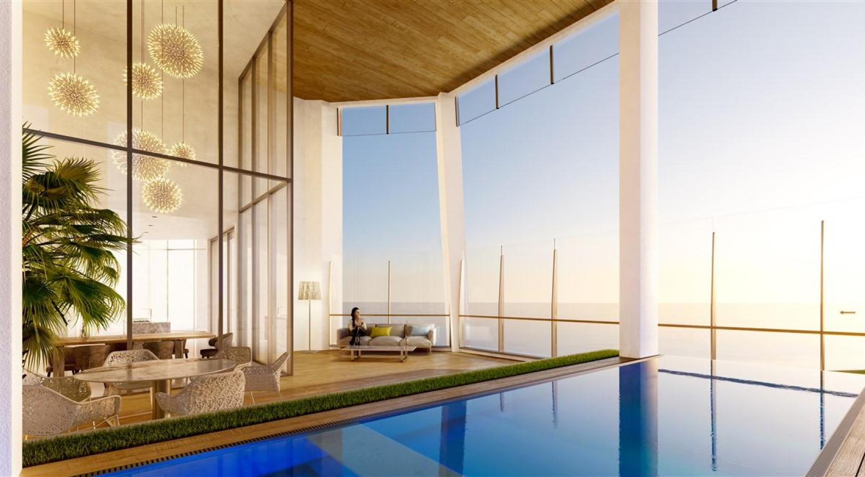 Sky Tower. Modern Spacious One Bedroom Apartment with Sea Views - 1