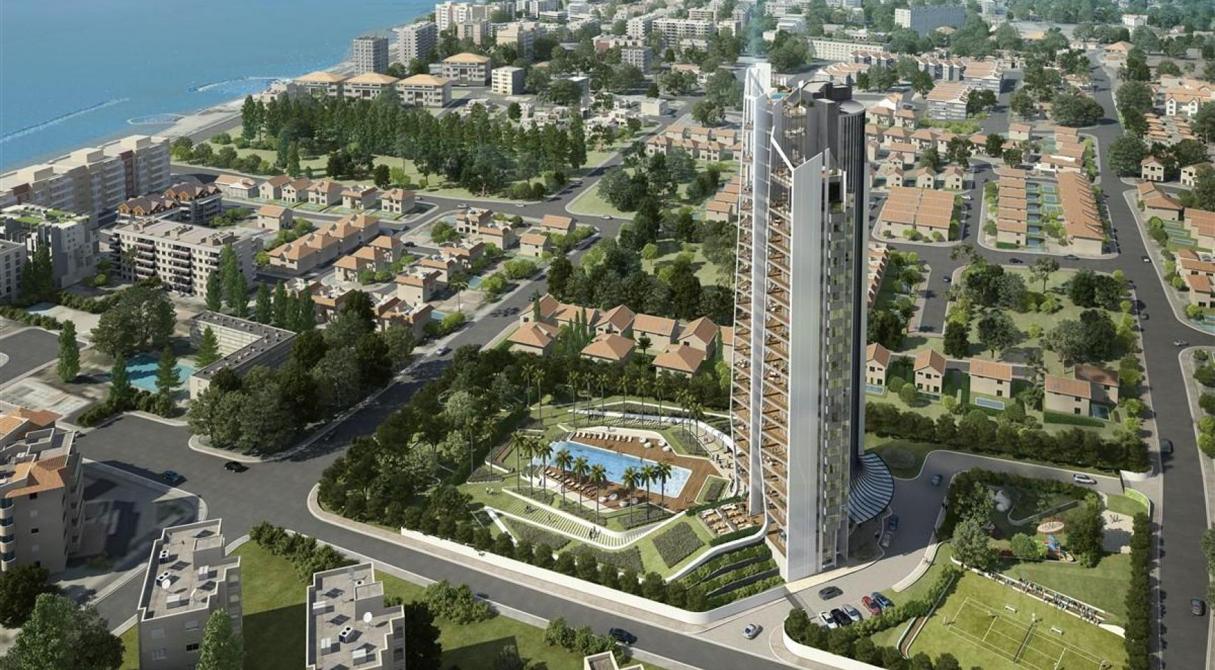 Sky Tower. Modern Spacious One Bedroom Apartment with Sea Views - 7