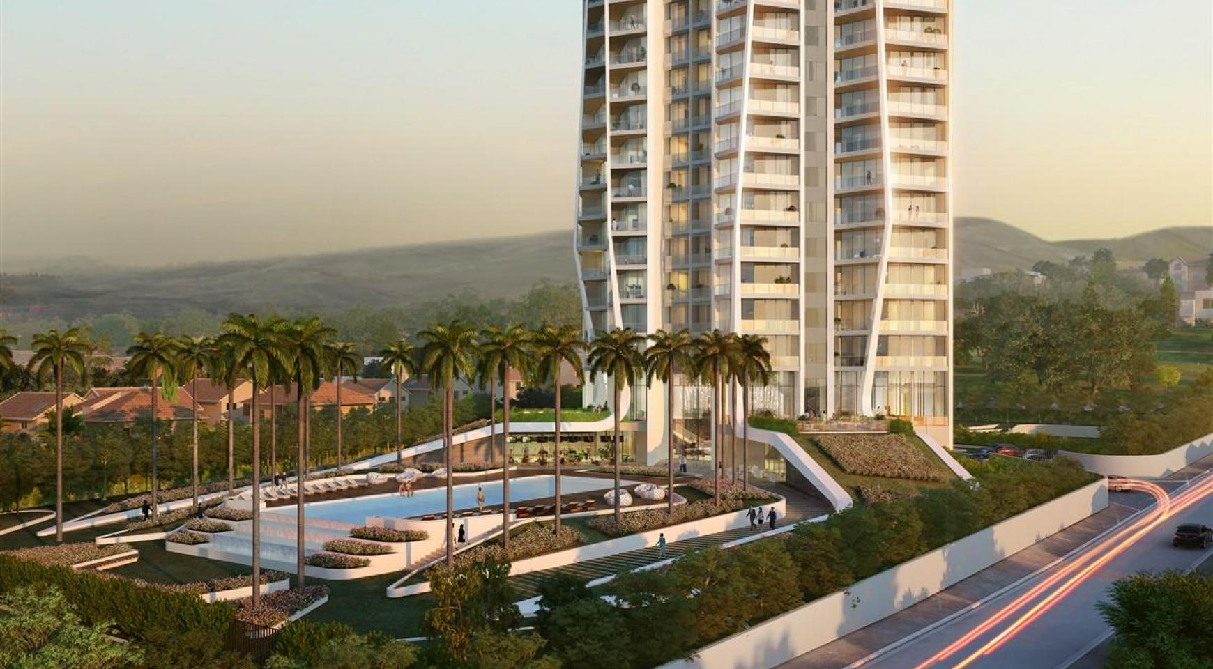 Sky Tower. New Spacious 2 Bedroom Apartment with Sea Views - 5