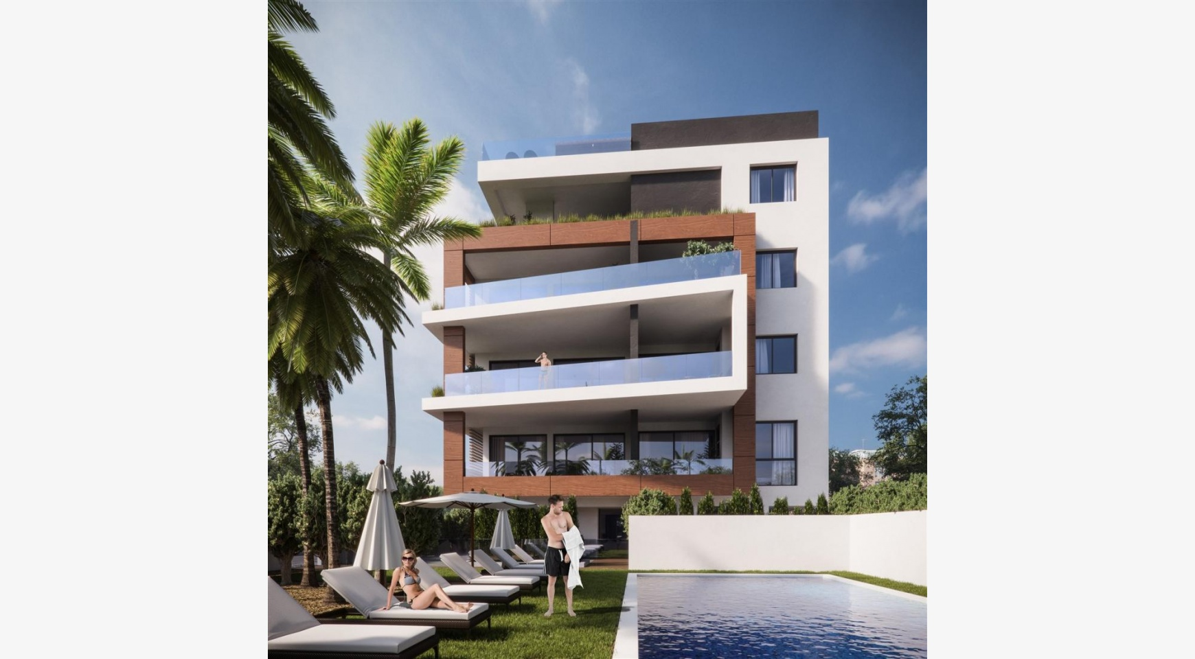 Malibu Residence. Modern One Bedroom Apartment 102 in the Tourist Area - 1