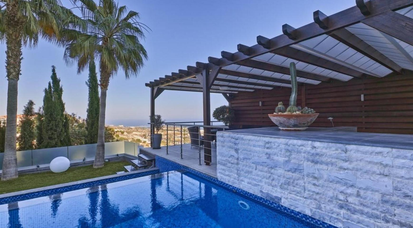 Elite 5 Bedroom Villa with Amazing Sea and Mountain Views in Agios Tychonas Area  - 3