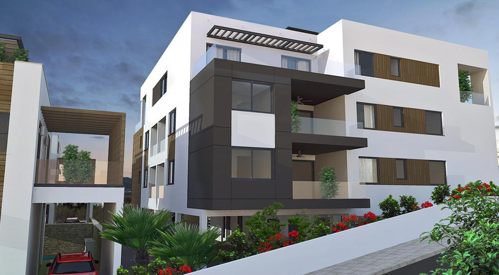 Modern 3 Bedroom Apartment In A New Complex In Agios Athanasios