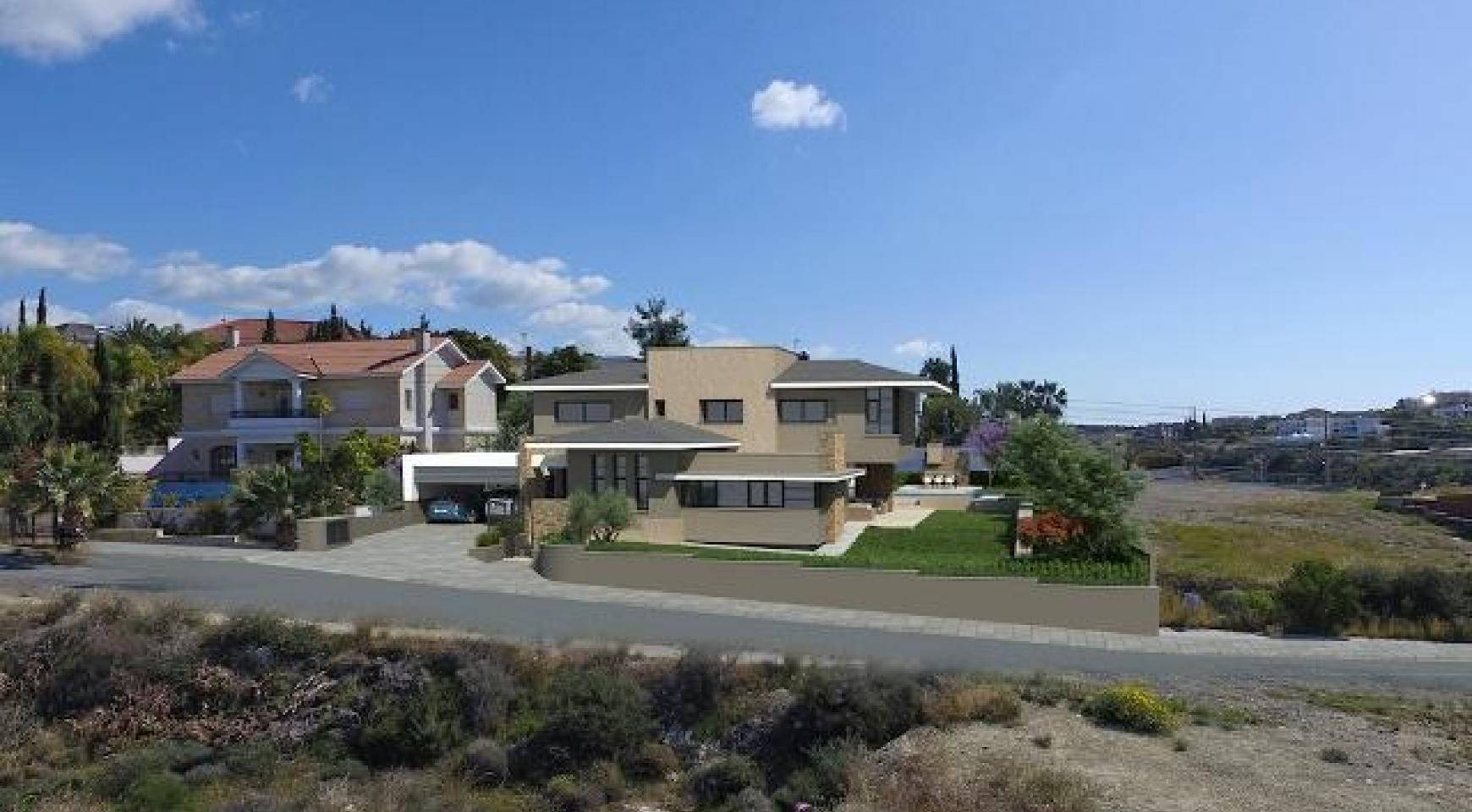 New Luxury 4 Bedroom Villa with Sea Views in Mesovounia - 2