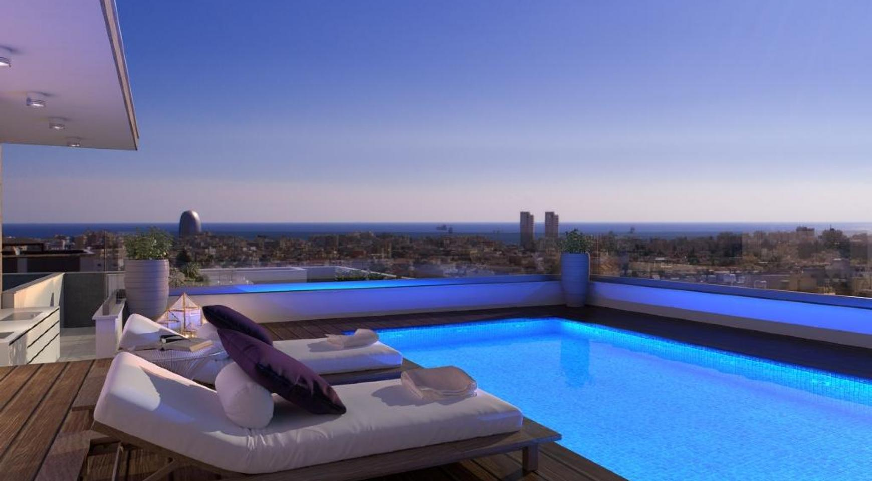 New 3 Bedroom Penthouse with the Swimming Pool in Mesa Geitonia  - 1