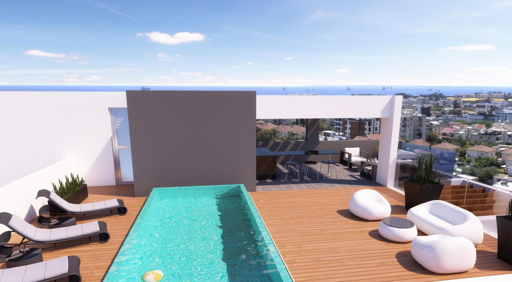 Modern Penthouse with a Private Swimming Pool in Potamos Germasogeia  - 8