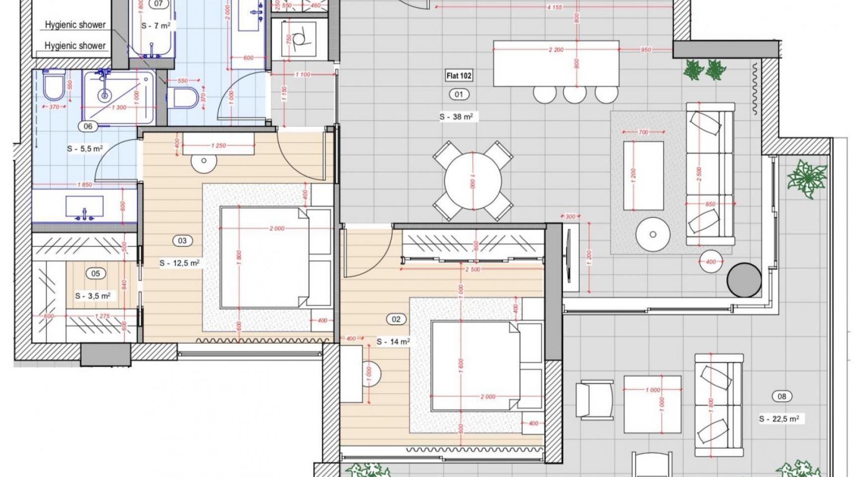 Contemporary 2 Bedroom Apartment in a New Complex near the Sea - 9