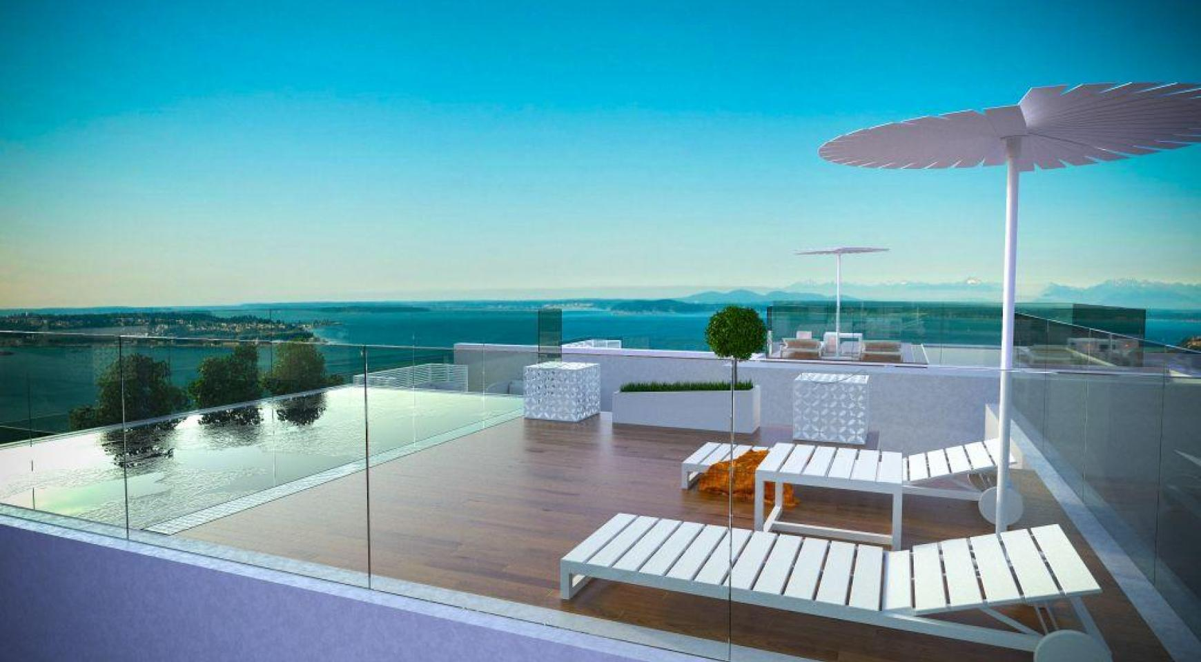 Contemporary 3 Bedroom Penthouse with a Private Swimming Pool - 12