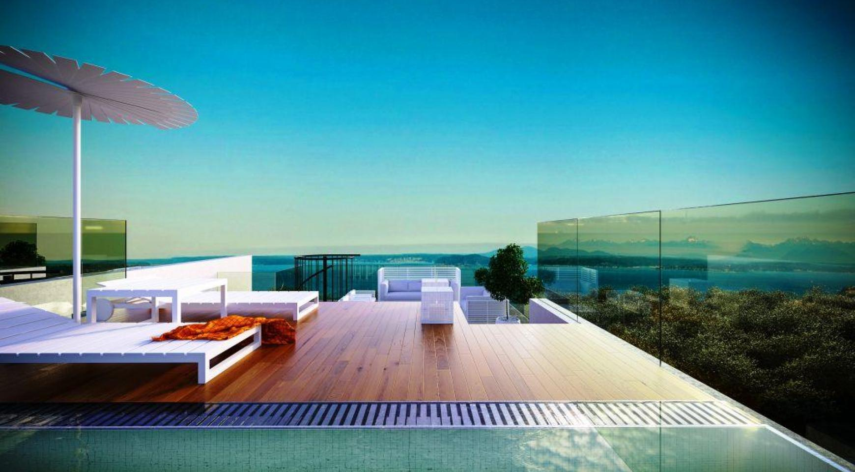 Contemporary 3 Bedroom Penthouse With A Private Swimming Pool   1