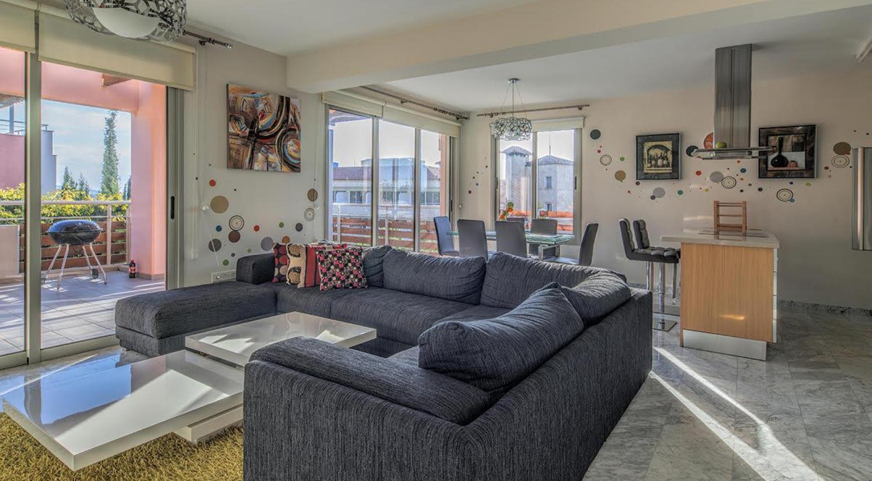 2 Bedroom Duplex Apartment Amathusa O 104 in a Prestigious Complex near the Sea  - 2