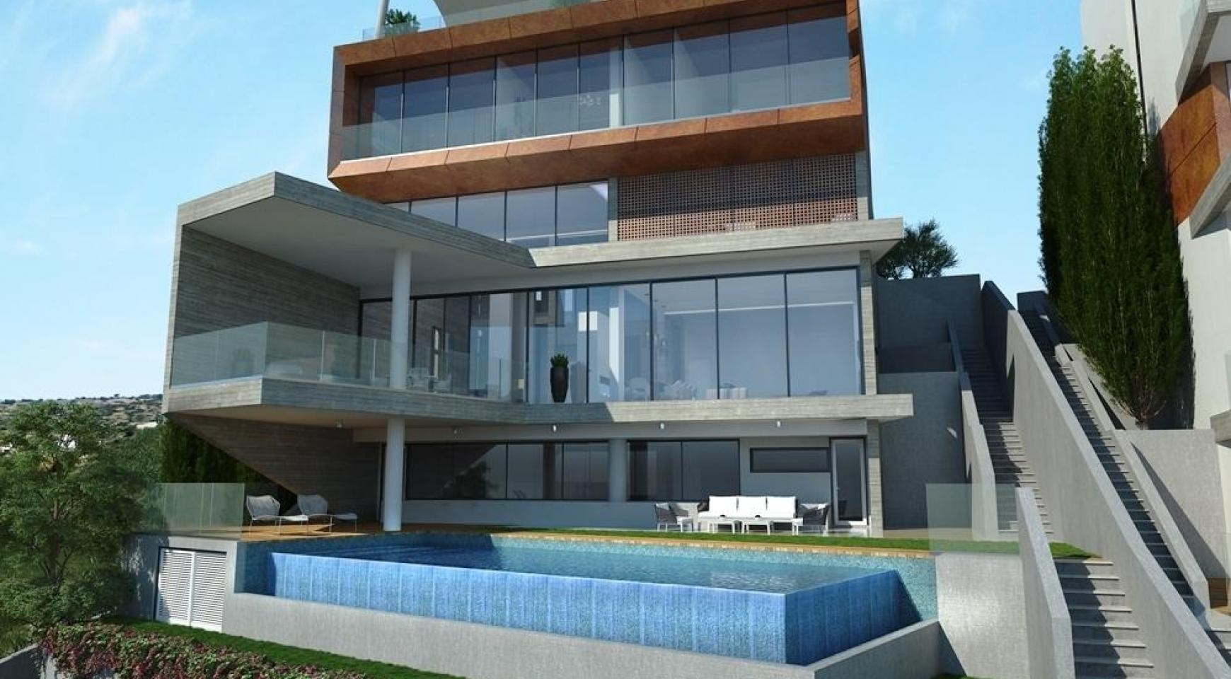 Modern Villa with Amazing Sea and City Views in Agios Tychonas Area - 1
