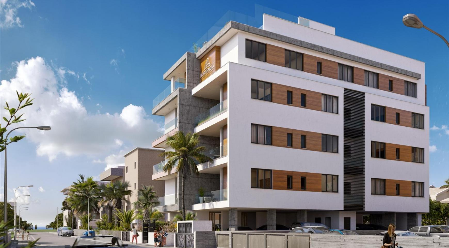 Hortensia Residence, Apt. 203. 3 Bedroom Apartment within a New Complex near the Sea - 1