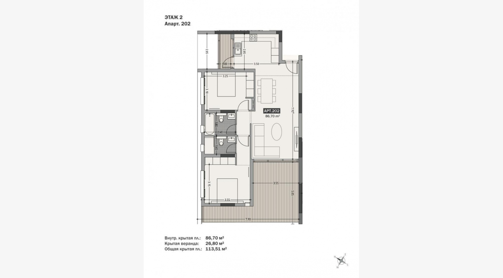 Hortensia Residence, Apt. 202. 2 Bedroom Apartment within a New Complex near the Sea  - 64