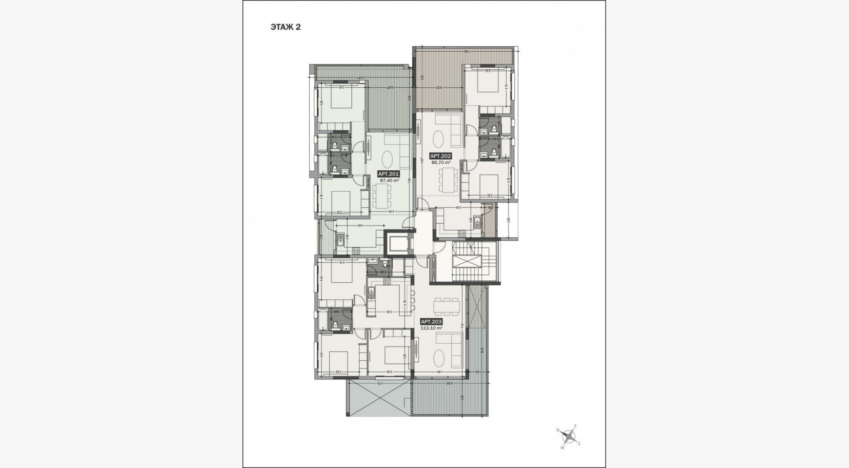 Hortensia Residence, Apt. 201. 2 Bedroom Apartment within a New Complex near the Sea  - 65