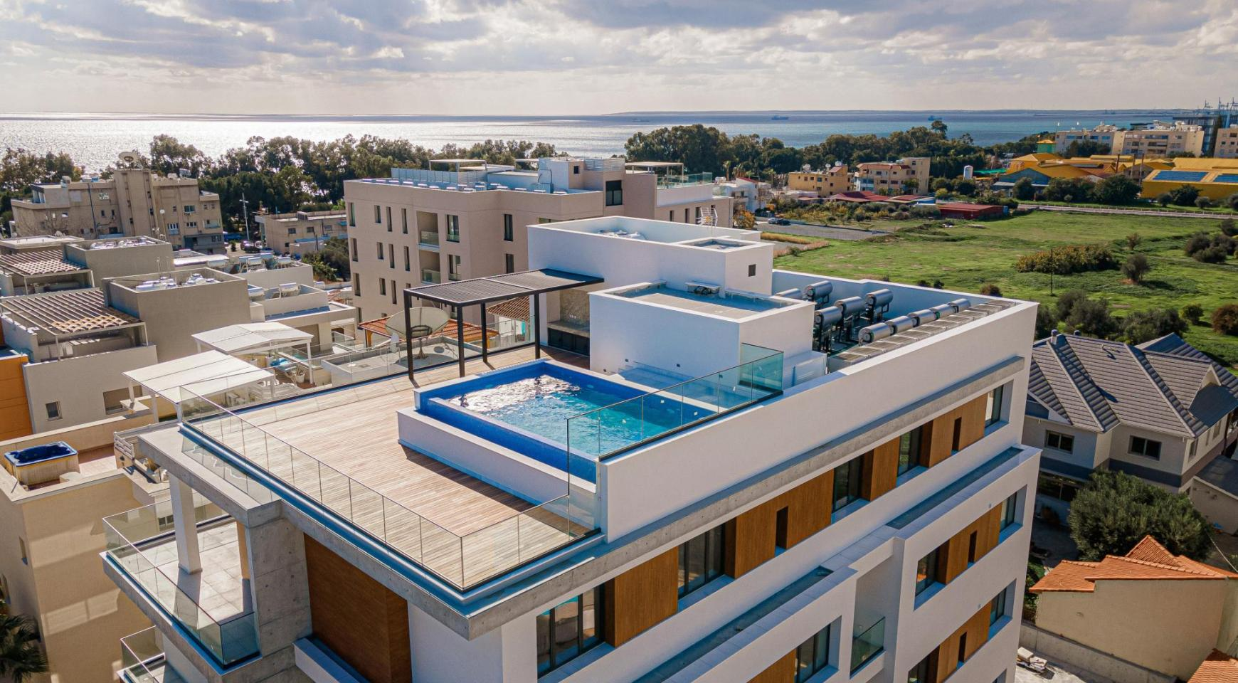 Hortensia Residence, Apt. 201. 2 Bedroom Apartment within a New Complex near the Sea  - 1