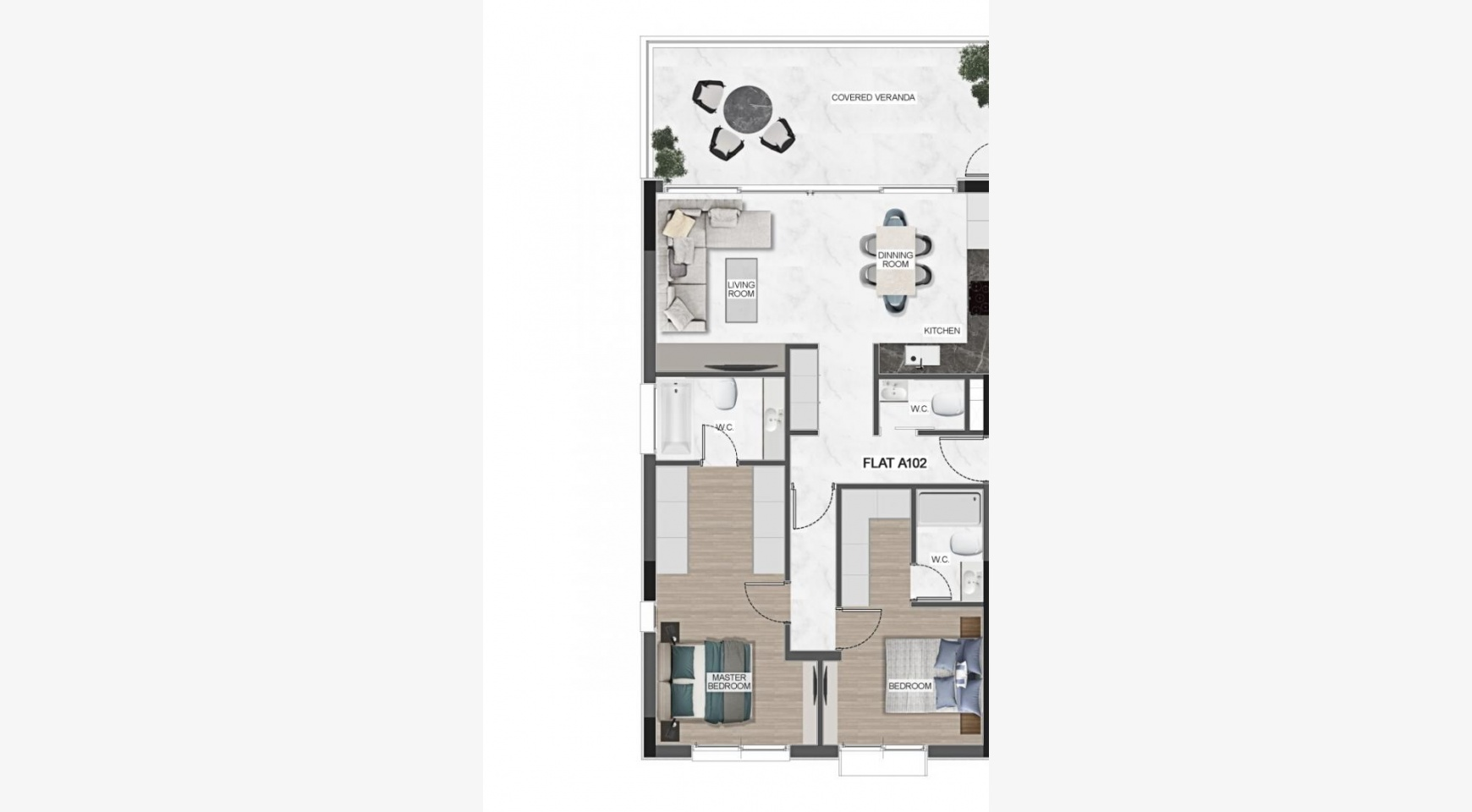 Urban City Residences, Block A. New Spacious 3 Bedroom Apartment 401 in the City Centre - 42