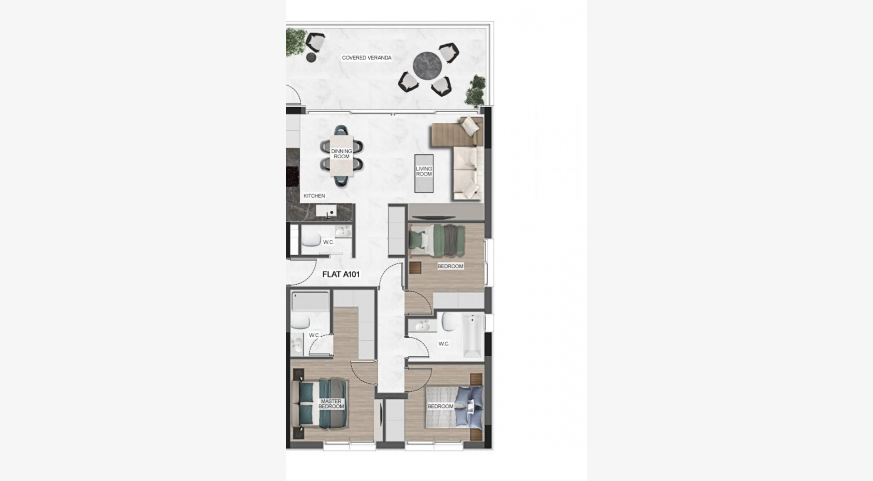 Urban City Residences, Block B. New Spacious 3 Bedroom Apartment 501 in the City Centre - 43