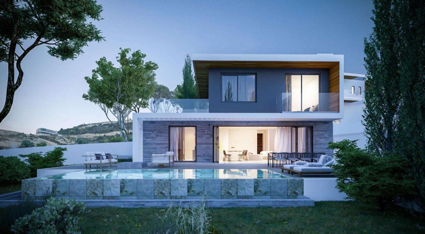 Luxurious 4 Bedroom Villa in New Project in Agios Tychonas Area - 1