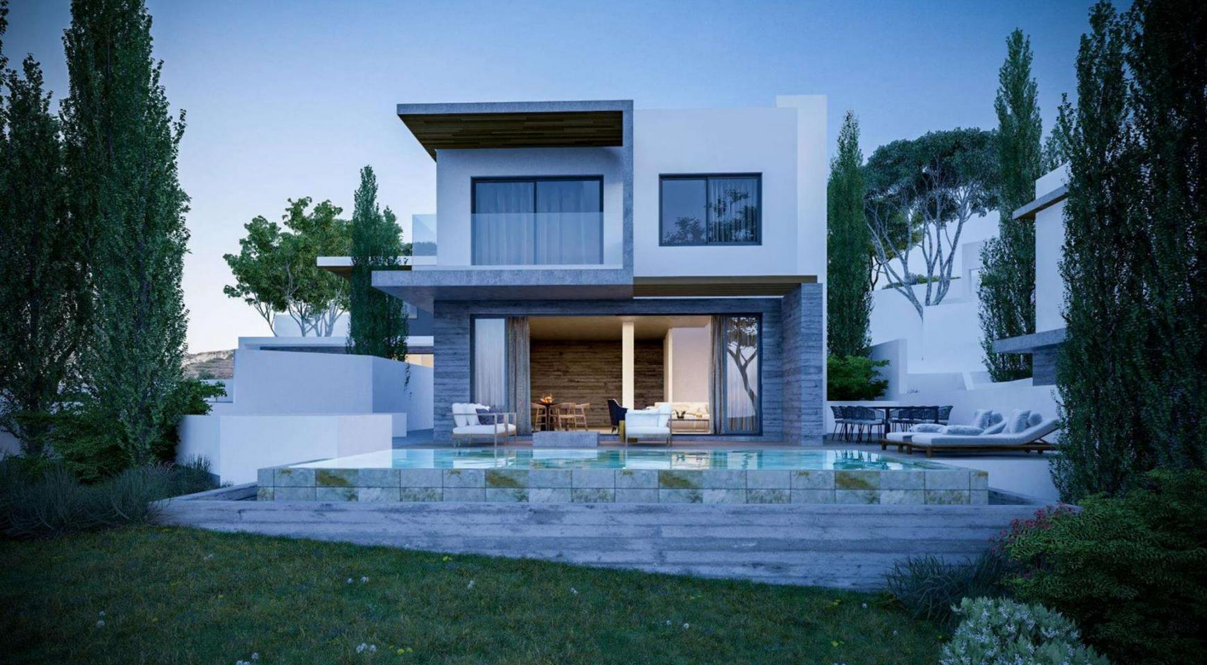 Luxurious 3 Bedroom Villa in a New Complex in Agios Tychonas Area - 1